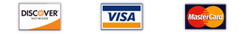 We Accept Check, Cash, Visa, Mastercard and Discover